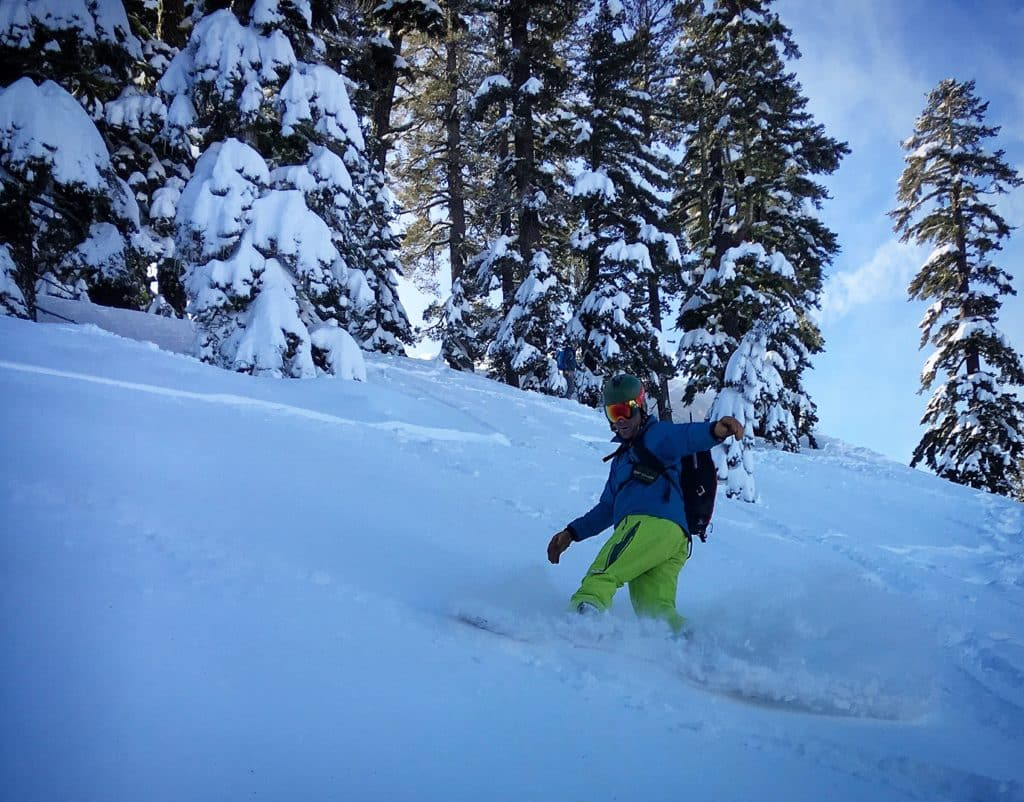 Lake Tahoe splitboarding