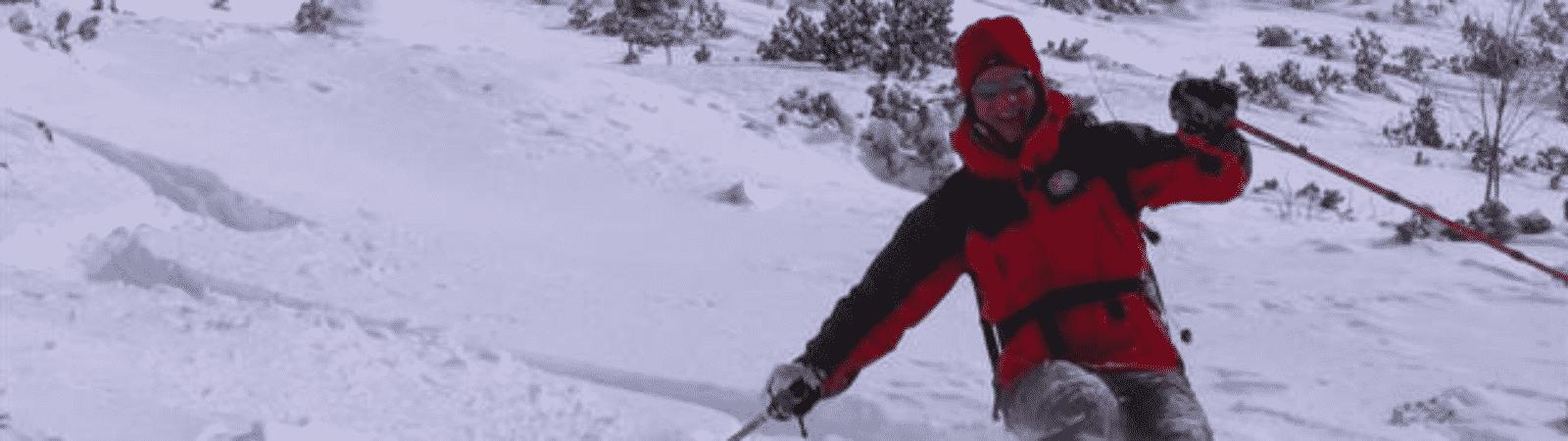 Freeride skiing in Vogel, inside Triglav National Park