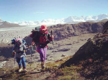 Hiking circuit in Cerro Huemul