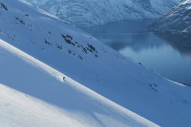 Skiing above the ski in FInnmark