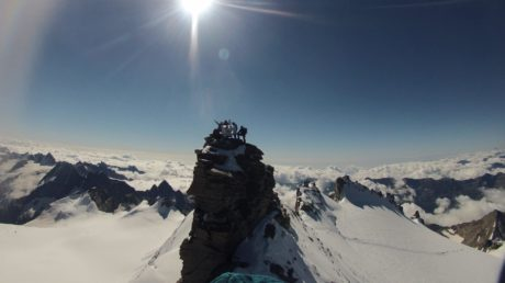 The summit of Grand Paradis 4.061 m
