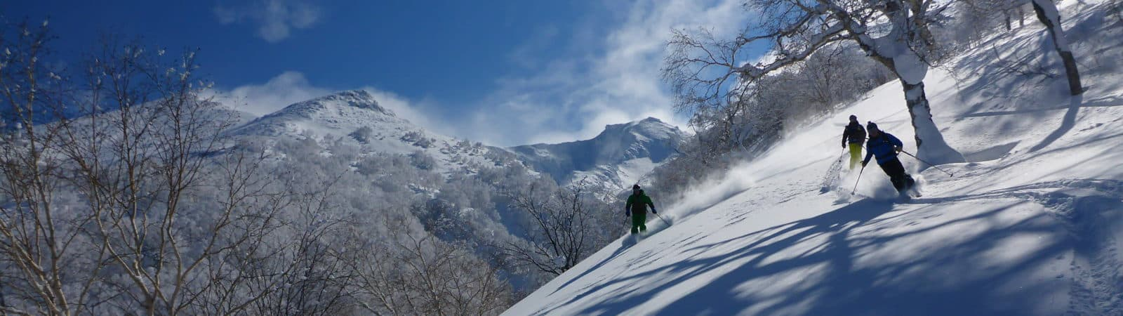 Ski touring in Asahikawa in Hokkaido