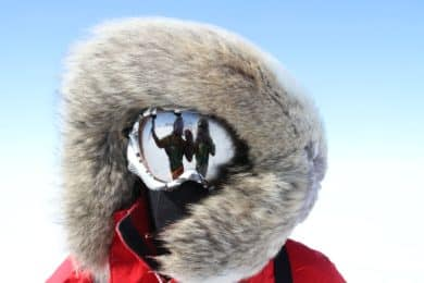 Pulka ski expedition in the South Pole