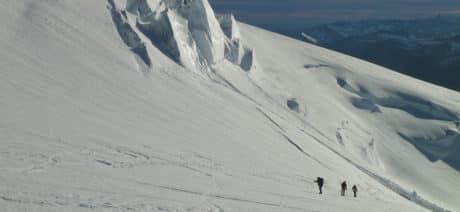 Ascent to Tronador, Argentine peak