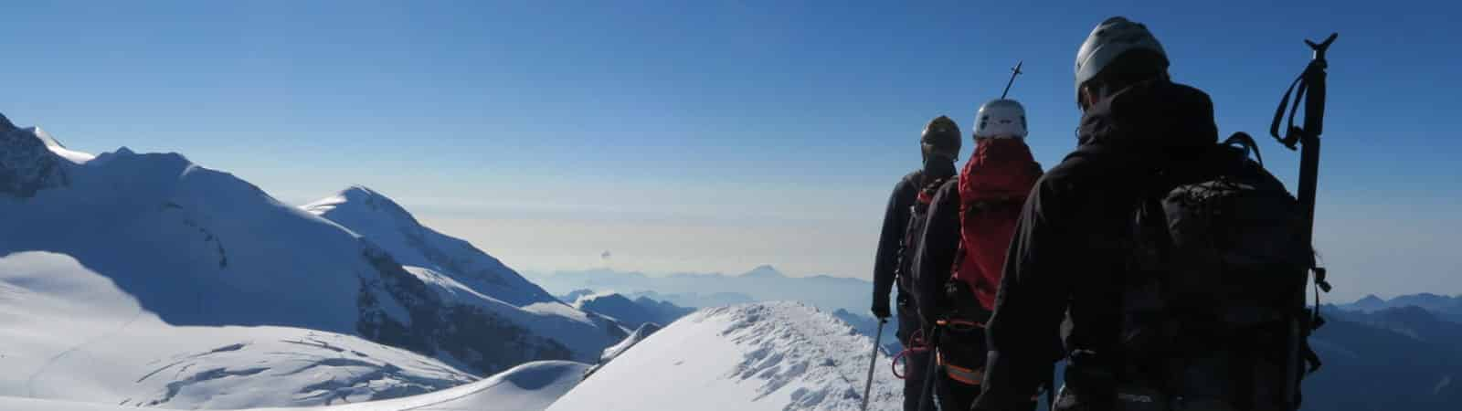 Monte Rosa guided climbing traverse