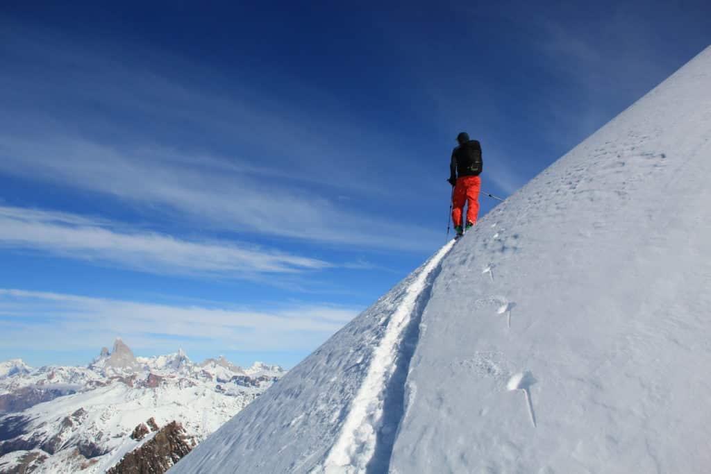 Ski touring in El Chalten