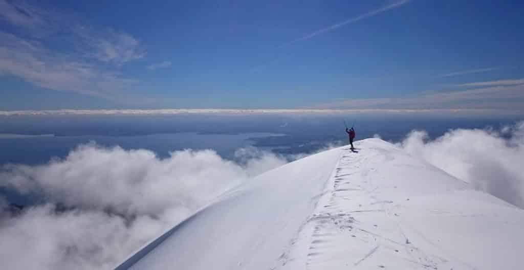 Ski touring in Patagonia, Chilean volcanoes Photo Merlin Lipshitz