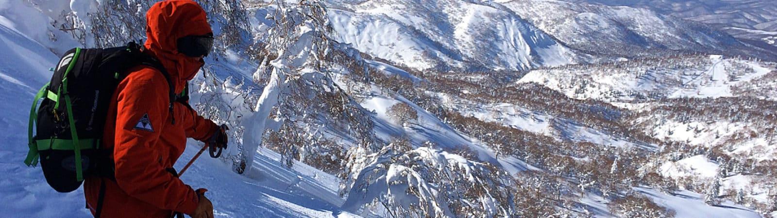 Freeride skiing and ski touring in Niseko