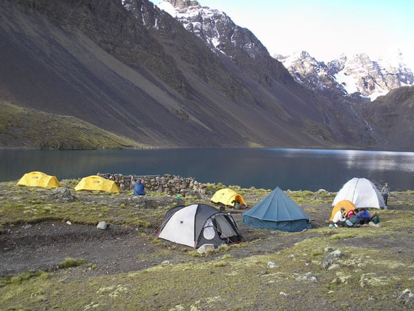 Trekking from Ajuani to Huayna Potosi