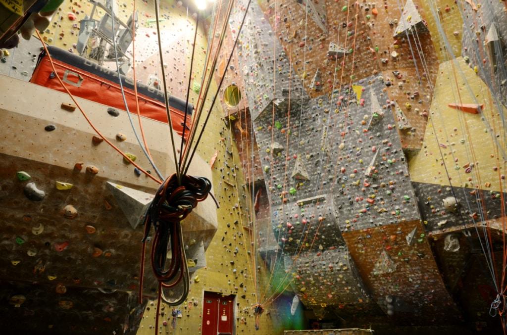 Indoor climbing course in Belgium