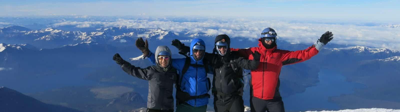 Climbing Lanin Volcano, 3776m