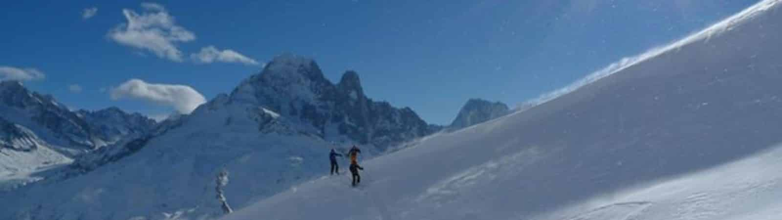 Getting the basics of ski touring in Chamonix