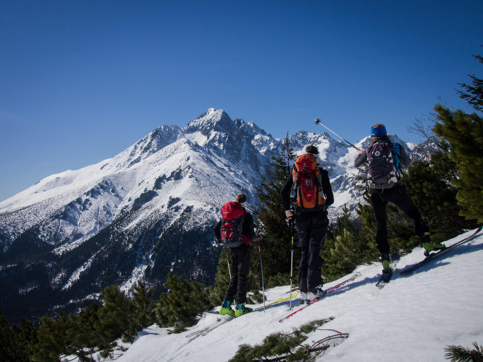 7-day backcountry ski tour in the High Tatras