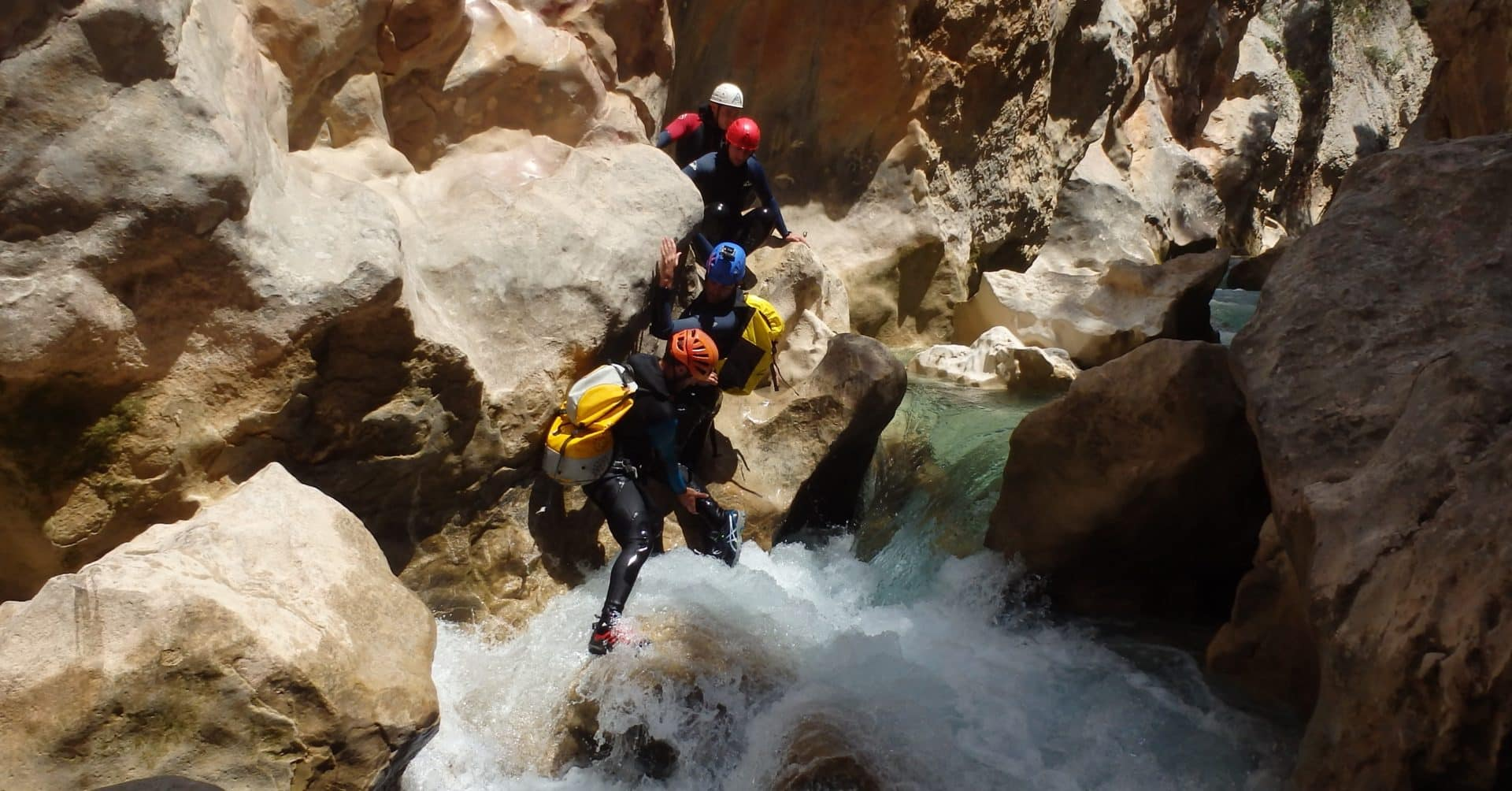 Family canyoning in the Sierra de Guara