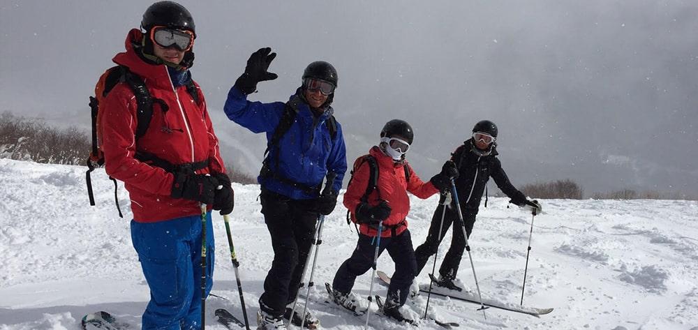 Family ski trip to Japan