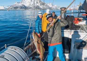 Ski touring and sailing in the Lofoten