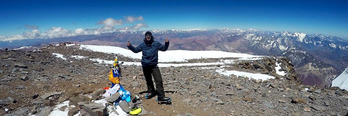 Oleksii in Aconcagua Summit