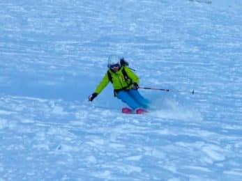 Freeride skiing in the Dolomites