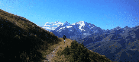 Classic Haute Route hiking traverse