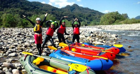 Pack Rafting in Minakami in Gunma