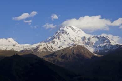 Climbing Mount Kazbek in Caucasus