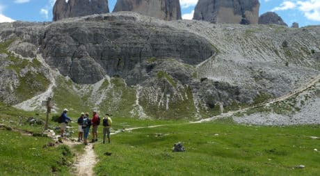 Hut to hut hiking in the Dolomites