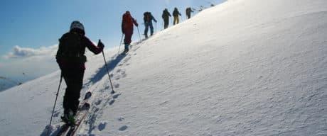 Ski touring in Rishiri