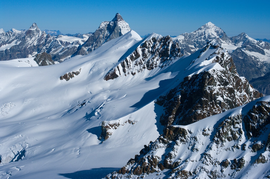 Climbing La Dent Blanche with a guide