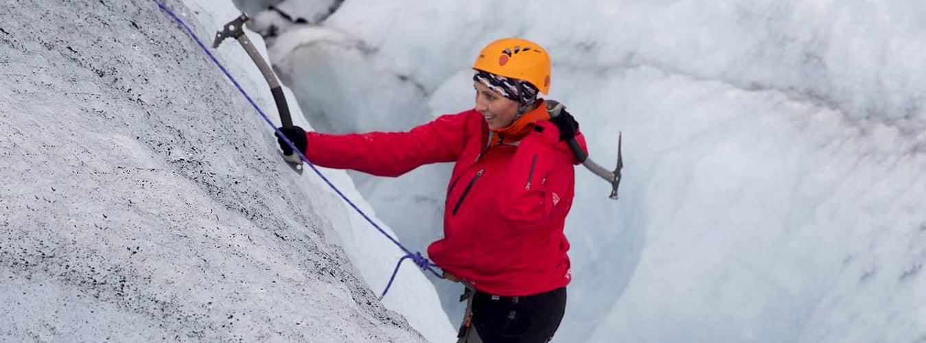Ice climbing in Sólheimajökull