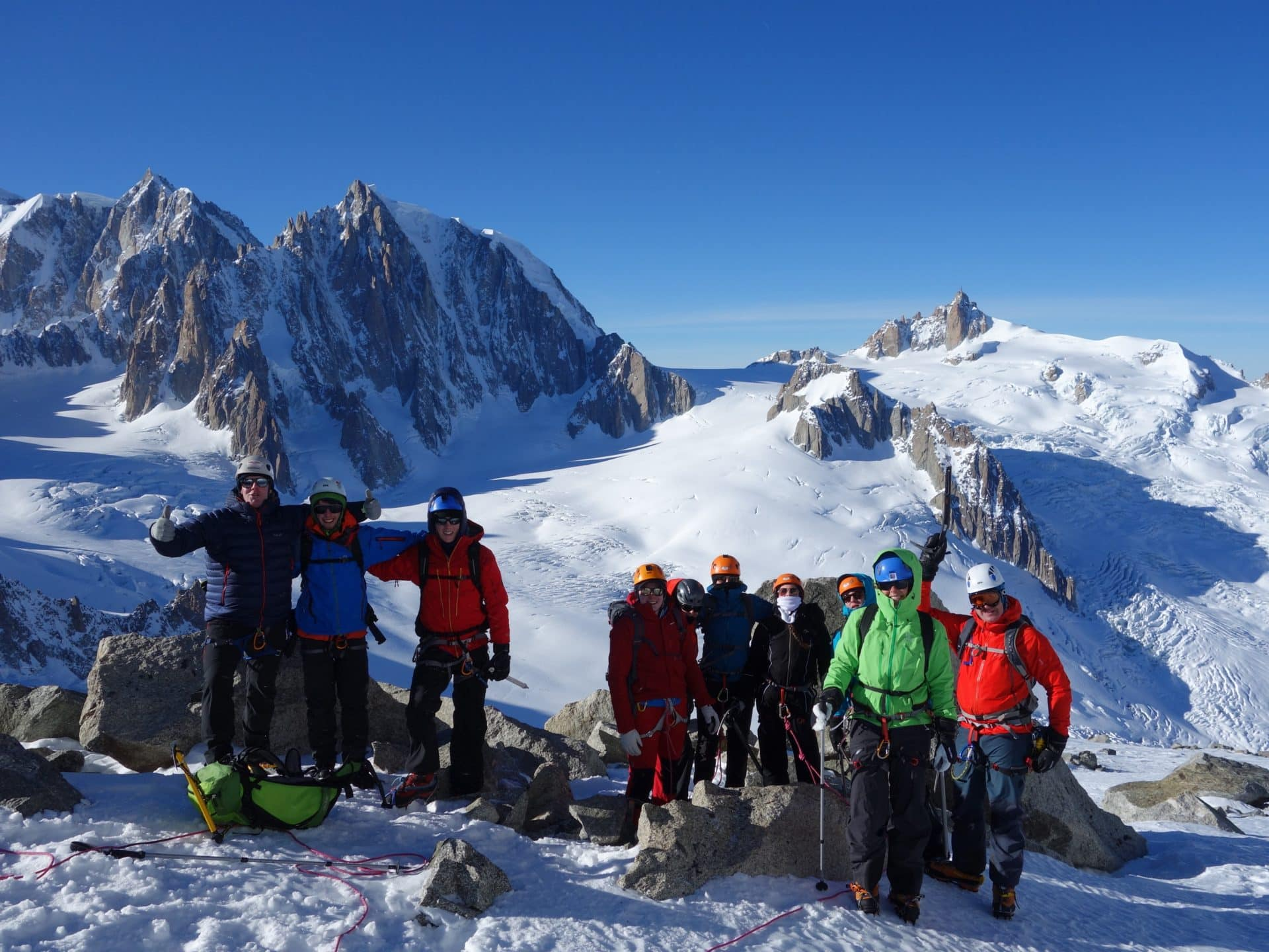 Guided mountaineering tour in the Alps