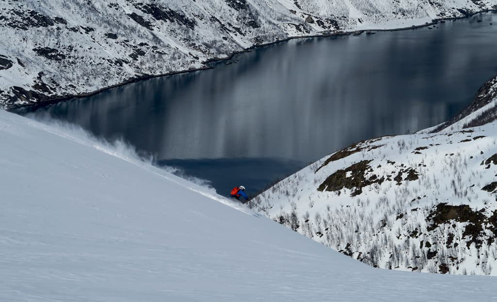 Backcountry skiing in Finnmark