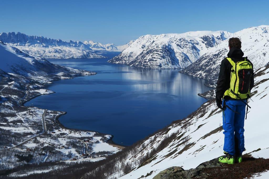 Beautiful fjord landscape in Finnmark.