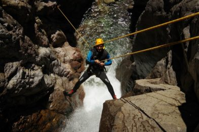 Canyoning in Arroyo Lopez