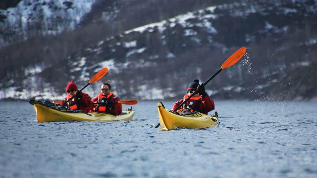 Ski kayaking in Finnmark