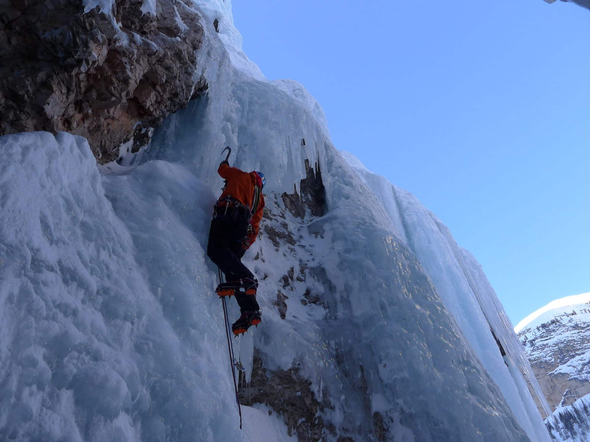 Ice climbing in Gasteiner with a guide