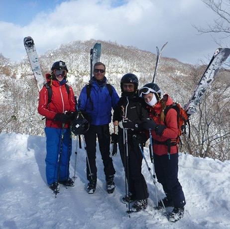 Arnaud's family in Hakuba