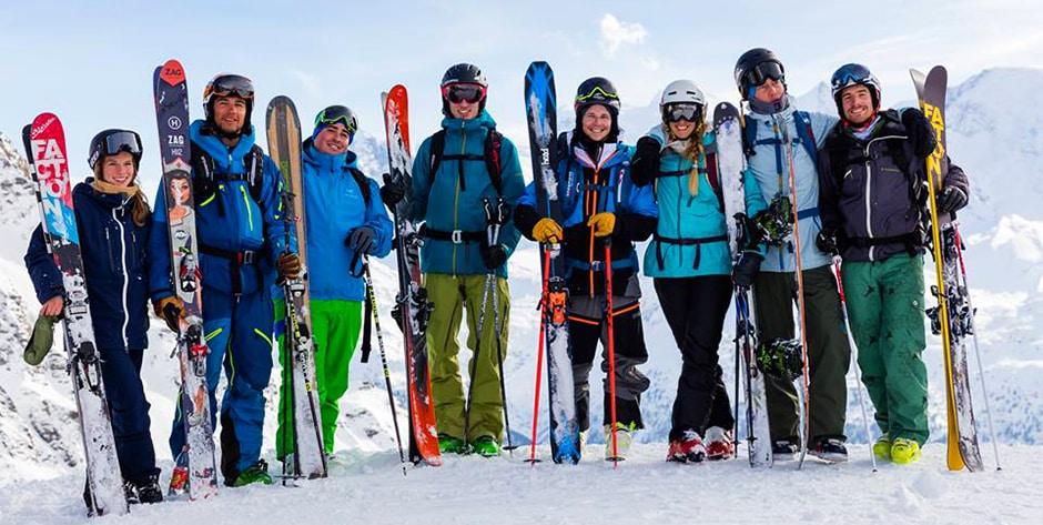 Ski touring ISTA course