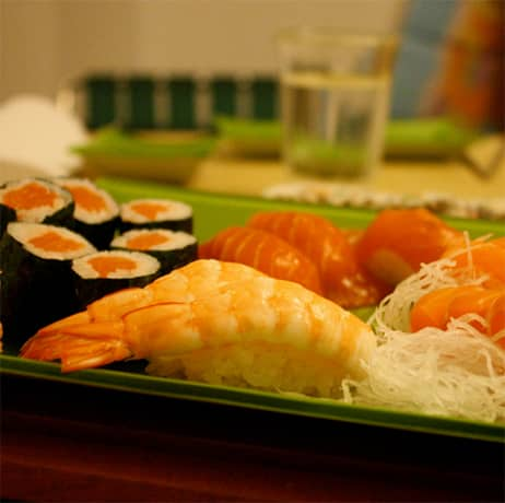 Bento Boxes with sushi