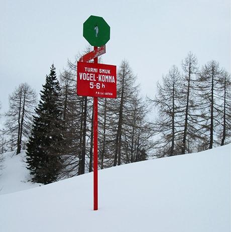 Hut to hut ski tour in Slovenia