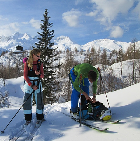 Backcountry skiing in Slovenia