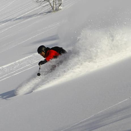 Off-piste skiing in Japan