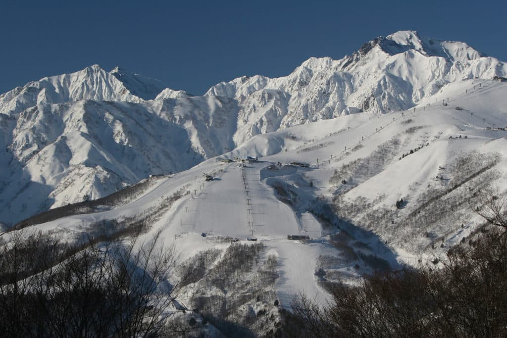 Great weather and snow conditions in Hakuba
