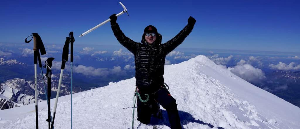 Chenxi on top of Mont Blanc