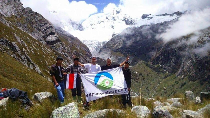 Climbing Vallunaraju with Juventino