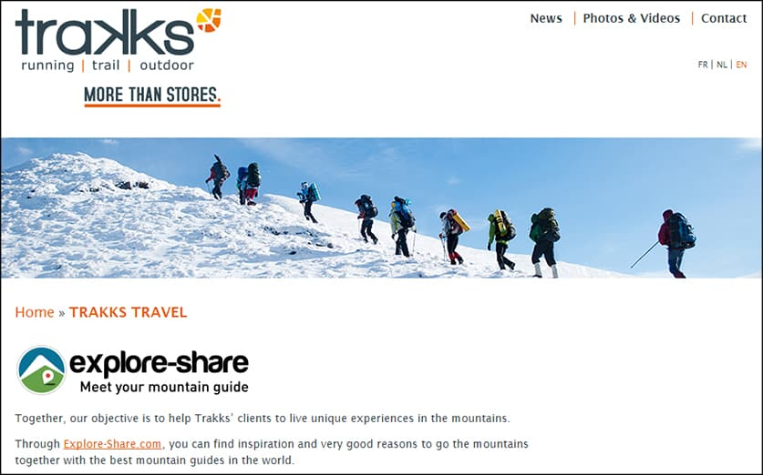 Explore-Share partnerships - Trakks