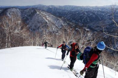 Ski tourers on Teshiodake, Hokkaido