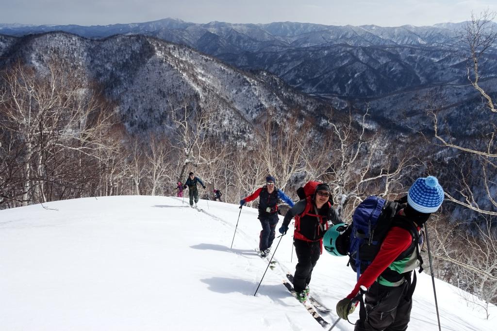 Backcountry ski expedition in Teshiodake, Hokkaido