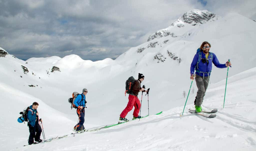 Ski touring in Slovenia with Mitja