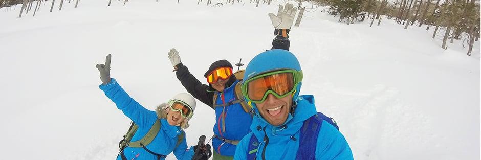 Cedric and Stéphanie with Daisuke in Hokkaido