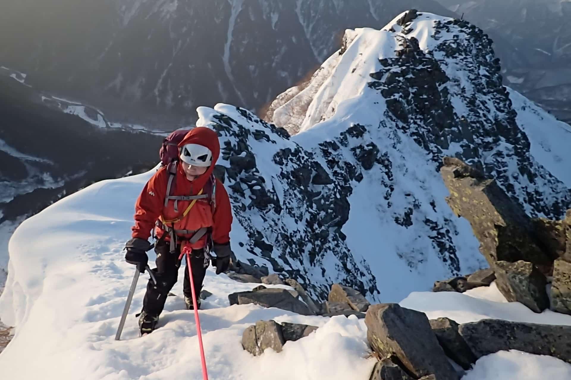 Winter Ascent of Mt Nishihodaka, Japan Alps